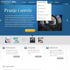 Krokoteks wordpress web stranica