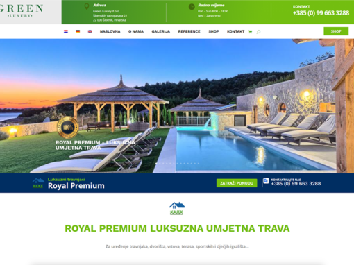 Green Luxury web shop bez cijena