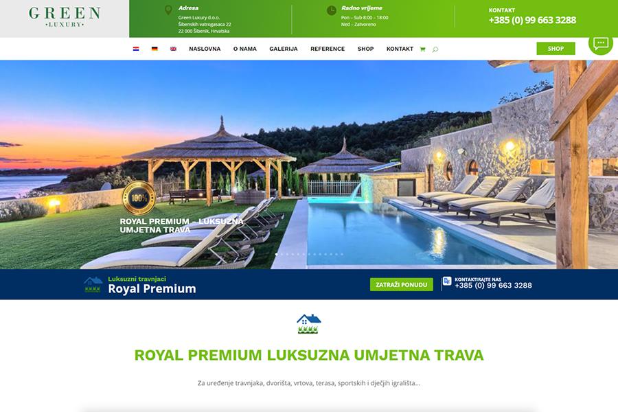 Green Luxury web shop bez cijena